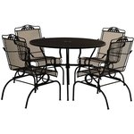 Arlington House 5-Piece Action Patio Dining Set, Charcoal