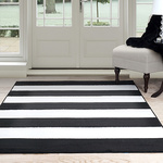 BIG STRIPES BLACK RUG