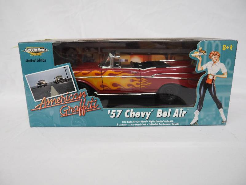 AMERICAN GRAFFITI 1957 CHEVY BELAIR | DIE CAST AND WINTER WEAR ...